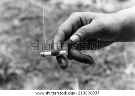 Smoking and harmful. - stock photo