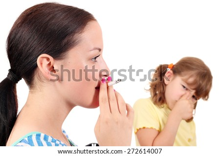 Smoking can cause diseases in children - stock photo
