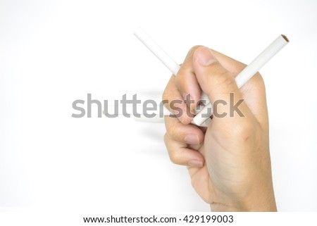 Smoking cigarette is bad for health. - stock photo