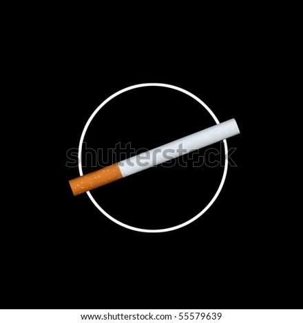 Smoking not allowed - stock photo