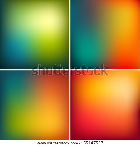 Smooth abstract colorful backgrounds set  - raster version - stock photo
