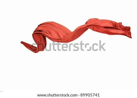 Smooth and elegant satin isolated on a white background - stock photo