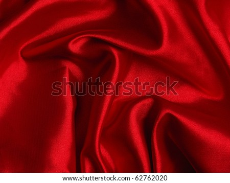 Smooth elegant red silk - stock photo