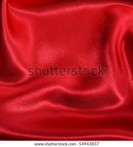 Smooth elegant red silk can use as background Smooth elegant red silk can use as background - stock photo