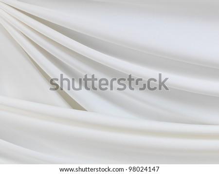Smooth elegant white silk - stock photo