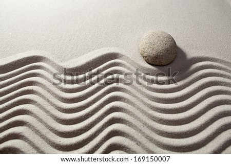 smooth evolution with sand concept - stock photo