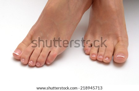 smooth,sexy and beautiful female legs isolated - stock photo