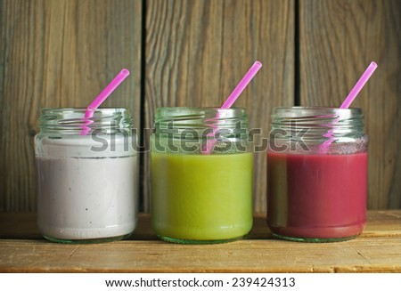 Smoothie beverages  - stock photo