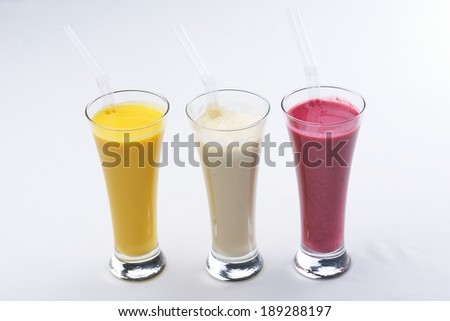 smoothies isolated shake drink fruit healthy - stock photo