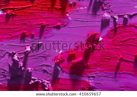 Smudged colourful lipstick background - stock photo