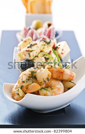 Snack bar with tapas - stock photo
