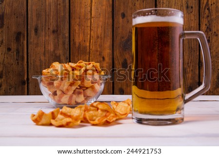 Snack end beer - stock photo