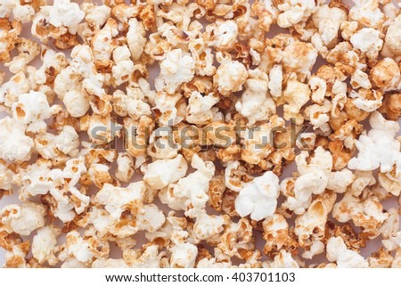 Snack popcorn a texture background. - stock photo