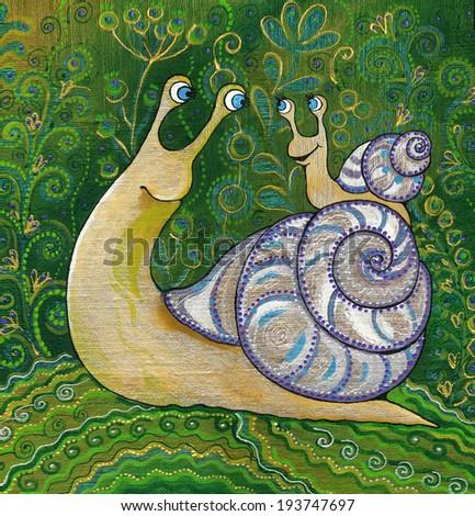 snail,summer,cochlea,Helix,animal,  - stock photo