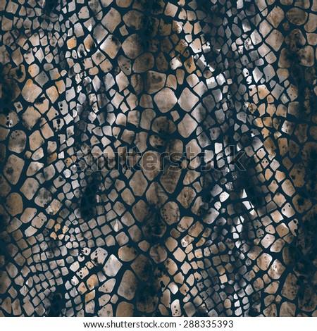 Snake Seamless Pattern - stock photo
