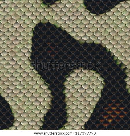 Snake skin dark and  white seamless background or texture - stock photo