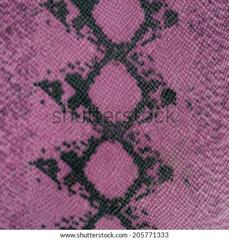 Snake skin pattern in pink color tones. - stock photo