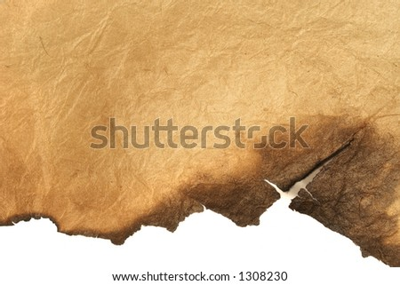 snatch of grungy paper - stock photo