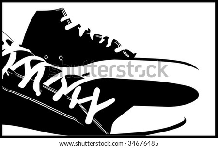 sneakers abstract   illustrations - stock photo