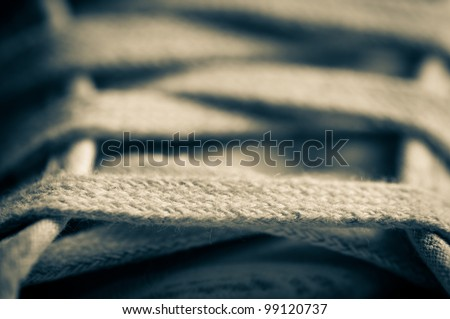 Sneakers close up - stock photo
