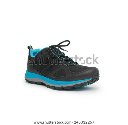 sneakers isolated on the white background - stock photo