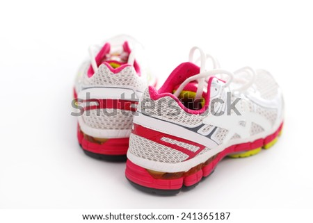 Sneakers on white background - stock photo