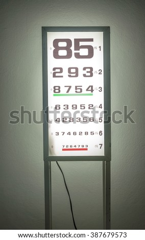 snellen chart is medical examination in eye disease - stock photo