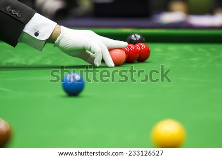snooker referee - stock photo