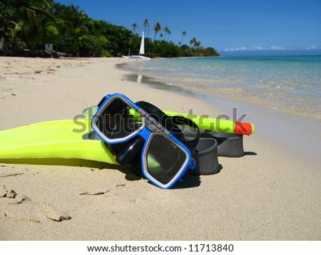 Snorkeling equipment - stock photo