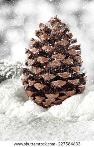 snow and cone  - stock photo