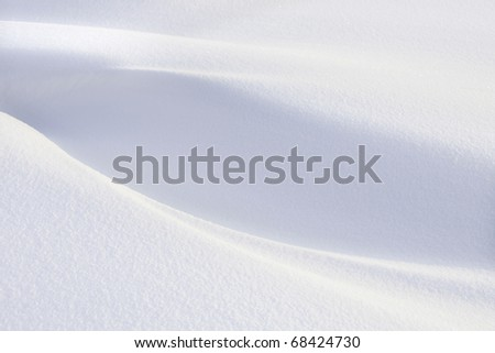Snow background on sunny day - stock photo