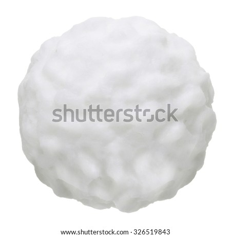 Snow ball isolated on white background. - stock photo