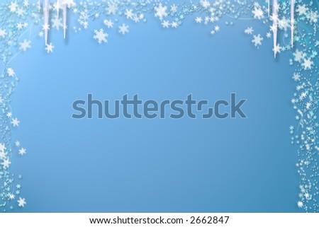 Snow barkground - stock photo