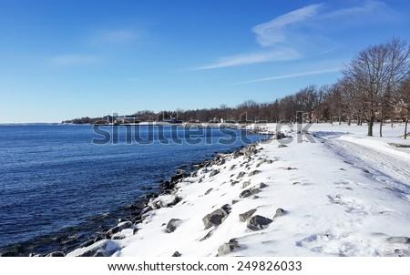 snow beach - stock photo