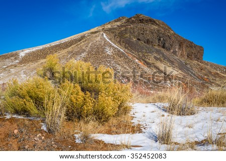 Snow covered northern Arizona winter landscapes.  - stock photo