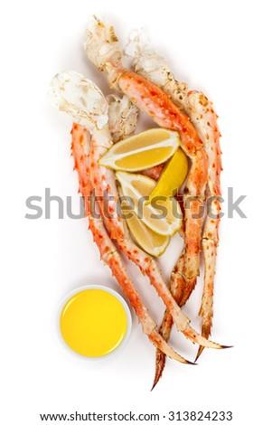 Snow Crab Legs. Selective focus. - stock photo