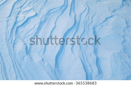 Snow drifts after snowstorm - stock photo