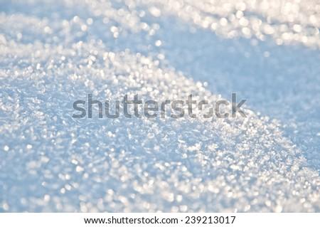 Snow glints in the sun - stock photo
