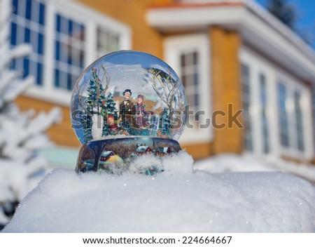 snow globe  - stock photo