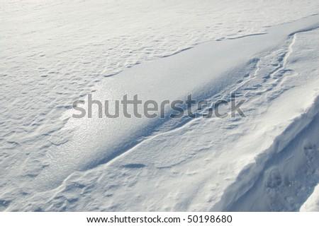 Snow ice crust - stock photo