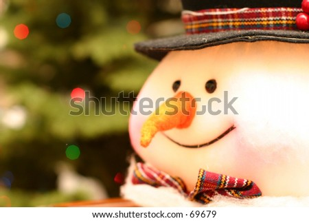 Snow Man - stock photo
