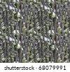 snow on reindeer moss on oak bark winter seamless background pattern - stock photo