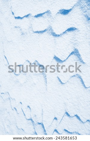snow surface close up - abstract background, high key effect - stock photo