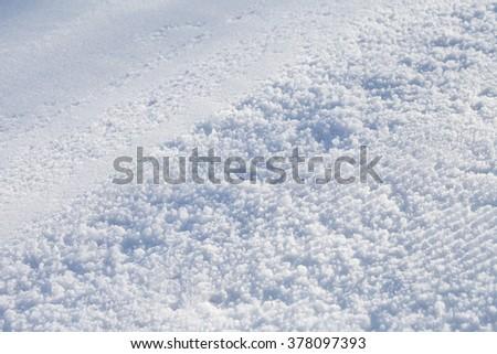 Snow   texture   close-up - stock photo