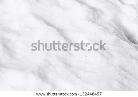 Snow texture detail. White snow texture, close up background - stock photo