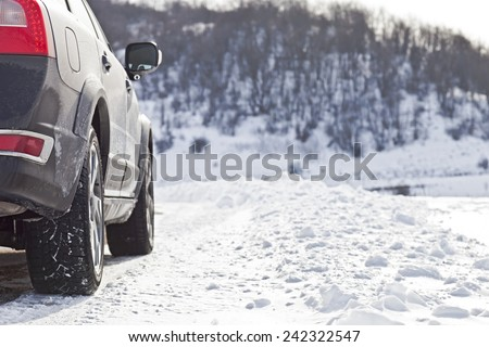 Snow tires - stock photo