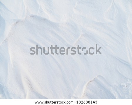 snow waves. background - stock photo