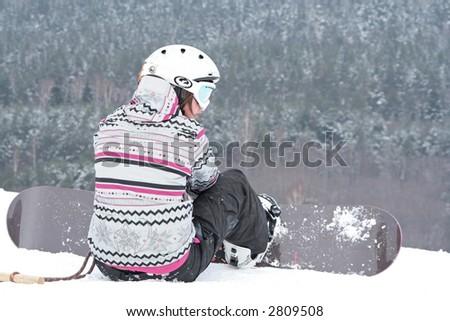 snowboard - stock photo