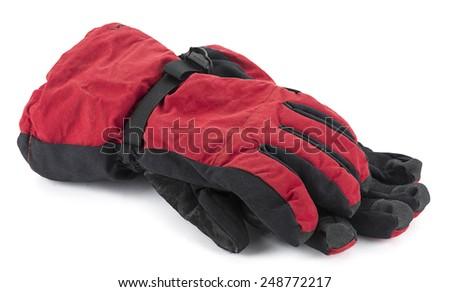 Snowboard Gloves - stock photo