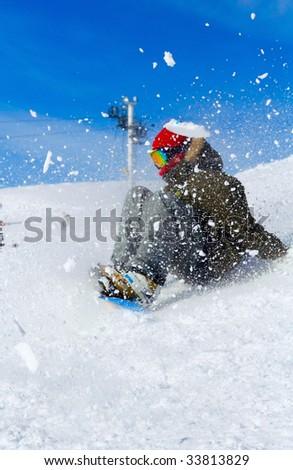 snowboarding - stock photo